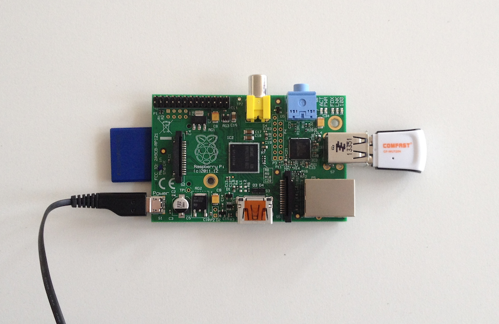 Assemble the Raspberry Pi and perpherals